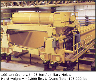 100 ton Crane with 25 ton Auxilliary Hoist