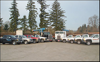US Crane and Hoist, Inc. - Full Truck Fleet to deliver Cranes and assist with Crane Service and Maintenance